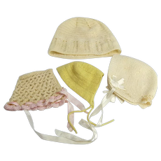 Group of our Knitted Doll Hats