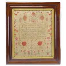 Lovely 19th Century Sampler with Many Images