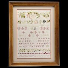 Alphabet Sampler 1896 with Unique Provenance