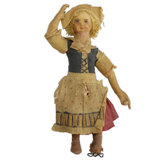 Unusual Vintage Crepe Paper Doll