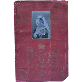 Fantastic 1887 Panoramic Booklet of Scraps of all the Kings and Queens of England