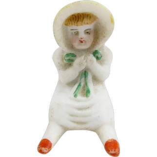 Tiny All Bisque Piano Baby Type Doll