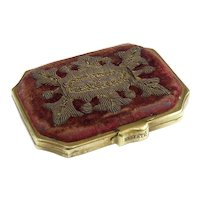 Antique French Raised Work Coin Purse