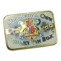 Vintage Tin Box of Pins