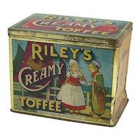 Vintage Riley's Toffee Tin