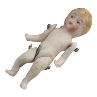Vintage All Bisque Tiny Doll