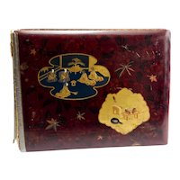 Antique Lacquer Japanese Albumen Photo Album As Is