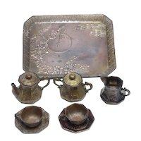 Doll Vintage Metal Tea Set