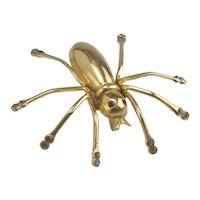 Vintage Large Coro Spider Brooch