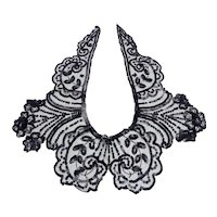 Vintage Black Net and Sequinned Collar