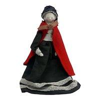 Antique All Original Grodnertal Wooden Doll