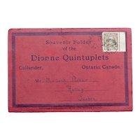 Original Souvenir Folder of the Dionne Quintuplets