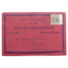 Original Souvenir Folder of the Dionne Quintuplets