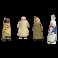 Four Unique Vintage Wacky Walker Dolls