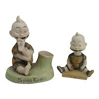 Two Lovely Snookums Comic Character Figurines