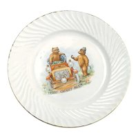 Vintage Roosevelt Bears Plate