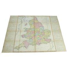 Antique Wallis Paper on Linen Board Game 1802