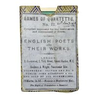 Card Game Dated 1872