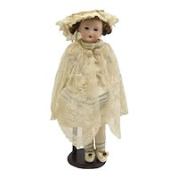 Antique German Bisque Head Doll -As Is