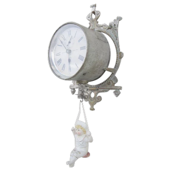 Ansonia Wall Jumper No. 3 Novelty Clock C. 1895 - Very Collectible!