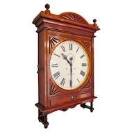 "Impressive Seth Thomas 18"" Lobby Clock in Gorgeous Cherry"