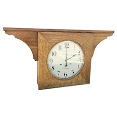 Seth Thomas Double Dial Ceiling Clock 30-Day in Oak