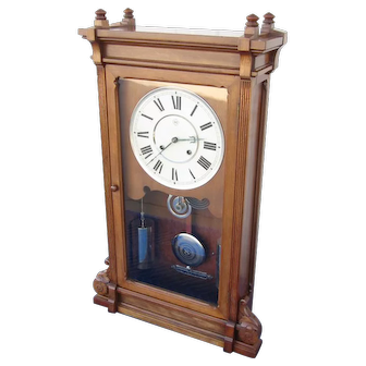 Elegant Seth Thomas Lincoln Shelf Clock - Nickel Hardware!