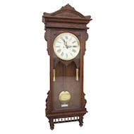 Waterbury Regulator #57 Wall Clock in Oak - Victorian Elegance!