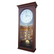 Seth Thomas Regulator #4 Clock  in Elegant Mahogany