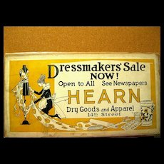 Vintage Art Deco Dressmaker's Sign