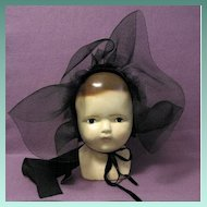Old Horsehair/Corduroy Amish Baby Bonnet
