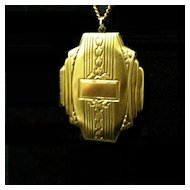 Vintage Gold- Filled Locket from the 1920s