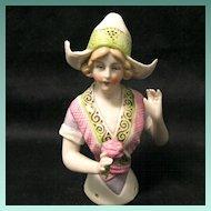Schneider Porcelain Half-doll, Volendam Bonnet