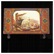 Bradley Historiscope, Rare 1860s Paper Panorama Optical Toy