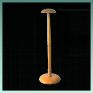 1940's Maple Wood Hat Stand, curly Maple Base