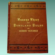"""Signed Original 2nd Edition, """"Laws of Whist"""", McIntosh, W.T. Smith, Pub."""