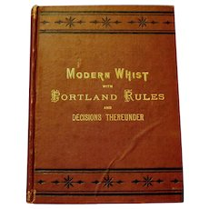 "Signed Original 2nd Edition, ""Laws of Whist"", McIntosh, W.T. Smith, Pub."