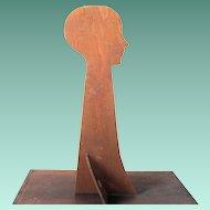 Vintage Wooden Silhouette  Mannequin Head