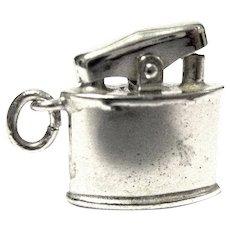 Mechanical Sterling Silver Cigarette Lighter Charm