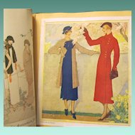 Vintage Scrapbook with Fashions from 1919-1940s