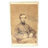 Carte de Visite of Civil War Soldier in York Jacket, ca. 1865