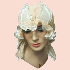 Lady's Fancy Organdy and Lace Boudoir Cap
