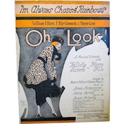"""1918 Sheet Music with Flapper on Cover, """"I'm Always chasing Rainbows"""","""