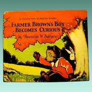 """Farmer Brown's Boy Becomes Curious"", a Cubby Bear Book by Thornton Burgess, 1927"