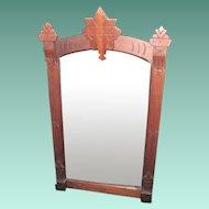 Antique Eastlake Walnut Framed Mirror