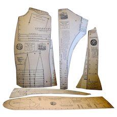 """Drafting Patterns of """"World's Fair Premium Tailor System, 1893"""