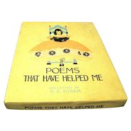 """1916 """"Poems that Have Helped Me"""", compiled by S.E. Kiser, Original Box and Book"""