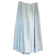 Long Blue Chambray Edwardian Skirt or Petticoat