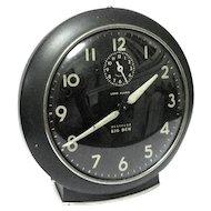 "1953 ""Big Ben"" Black Alarm Clock with Luminescent Dial and Hands"