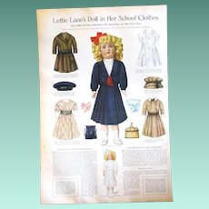 Original Lettie Lane Doll & Costumes Page/Halloween Costumes from 1911 Ladies Home Journal